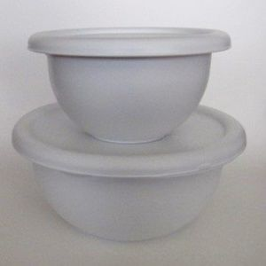 Other - Set of 2 Plastic Mixing / Storage Bowls with Lids